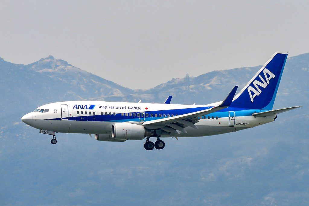 JA04AN Boeing 737 781WL All Nippon Airways ANA at Hong Kong International Airport