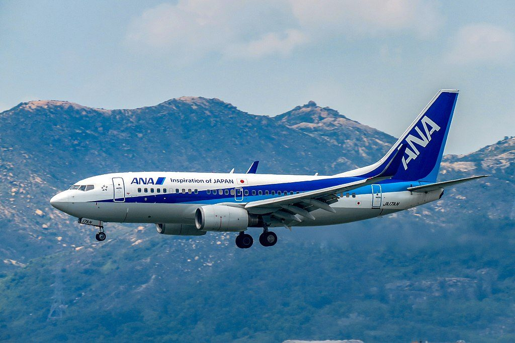 JA17AN Boeing 737 781WL All Nippon Airways ANA at Hong Kong International Airport