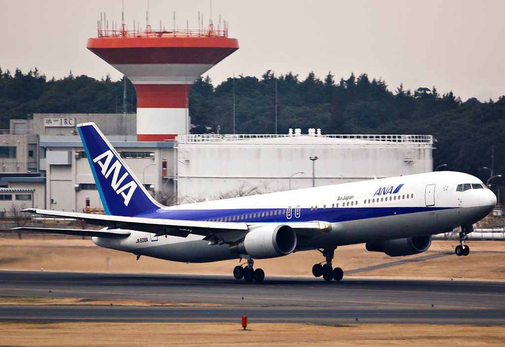 JA608A Boeing 767 381ER ANA All Nippon Airways at Narita International Airport