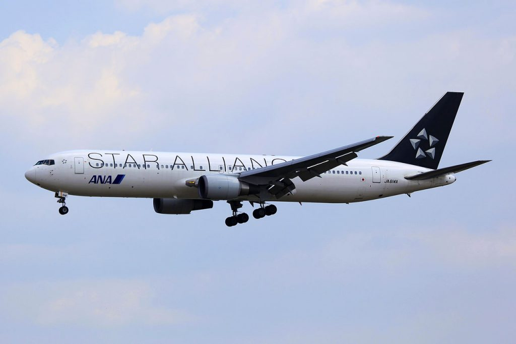 JA614A All Nippon Airways ANA Boeing 767 381ER Star Alliance Livery at Qingdao Liuting International Airport