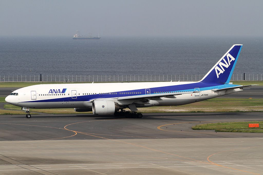JA704A Boeing 777 281 of All Nippon Airways ANA at Tokyo International Airport