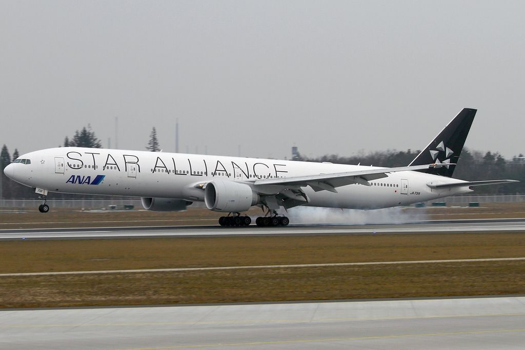 JA731A Boeing 777 381ER Star Alliance All Nippon Airways ANA at Frankfurt Airport