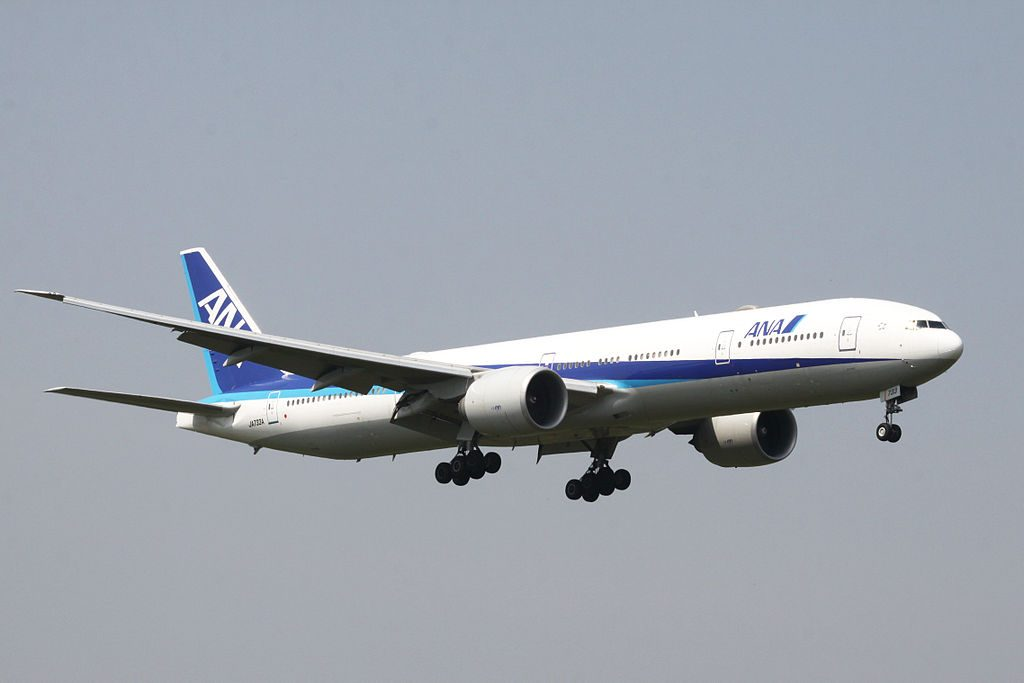 JA733A Boeing 777 381ER of All Nippon Airways ANA at Narita International Airport