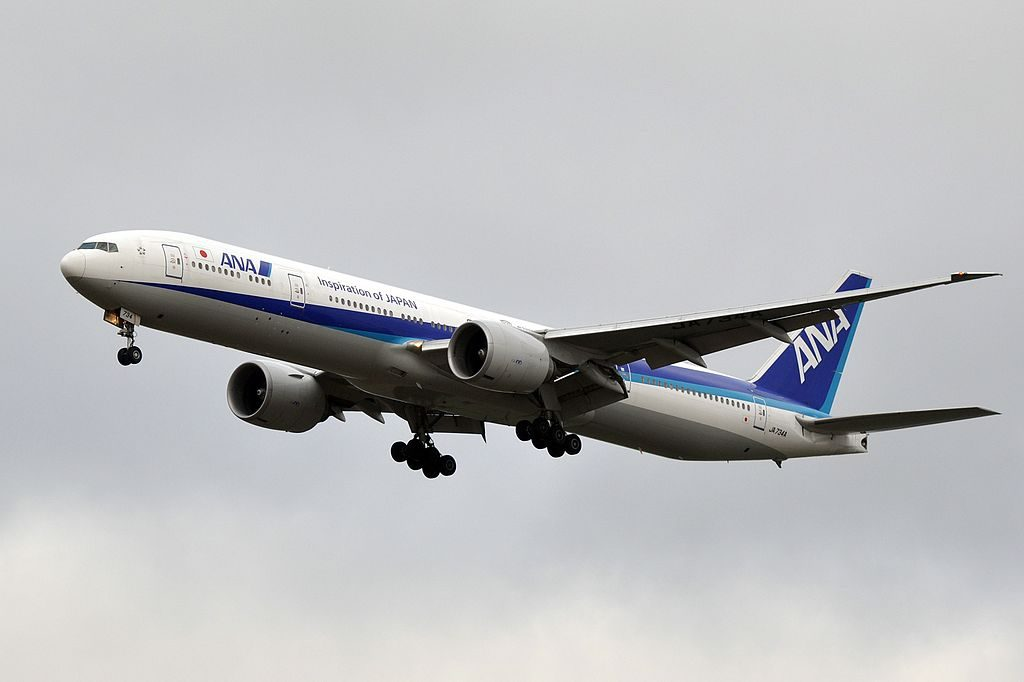 JA734A Boeing 777 381ER of All Nippon Airways ANA at Paris Charles de Gaulle Airport