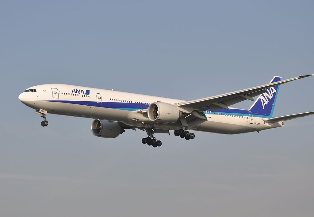 JA735A Boeing 777 381ER of All Nippon Airways ANA at London Heathrow Airport