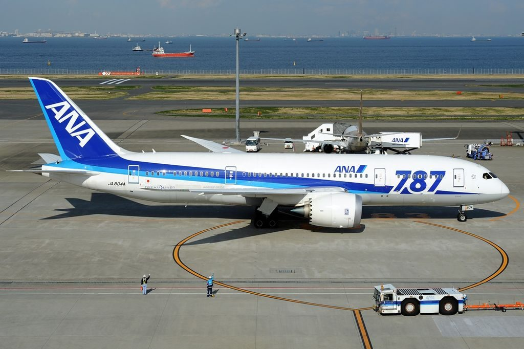JA804A Boeing 787 8 Dreamliner All Nippon Airways ANA at Tokyo International Airport