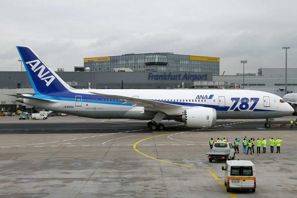 JA805A Boeing 787 8 Dreamliner All Nippon Airways ANA at Frankfurt Airport