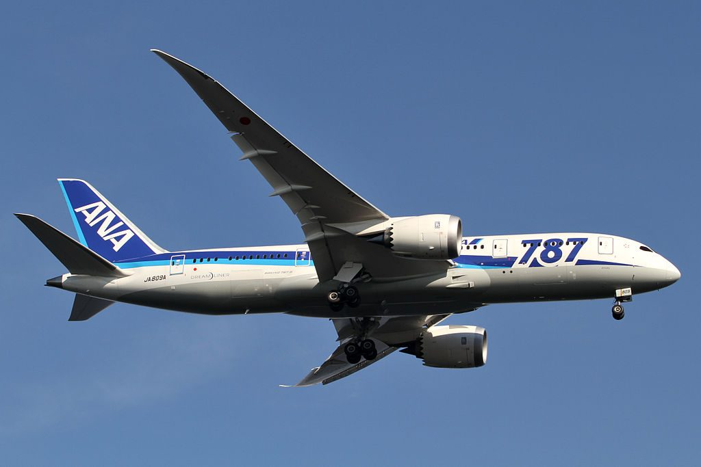 JA809A Boeing 787 8 Dreamliner of All Nippon Airways at Tokyo International Airport