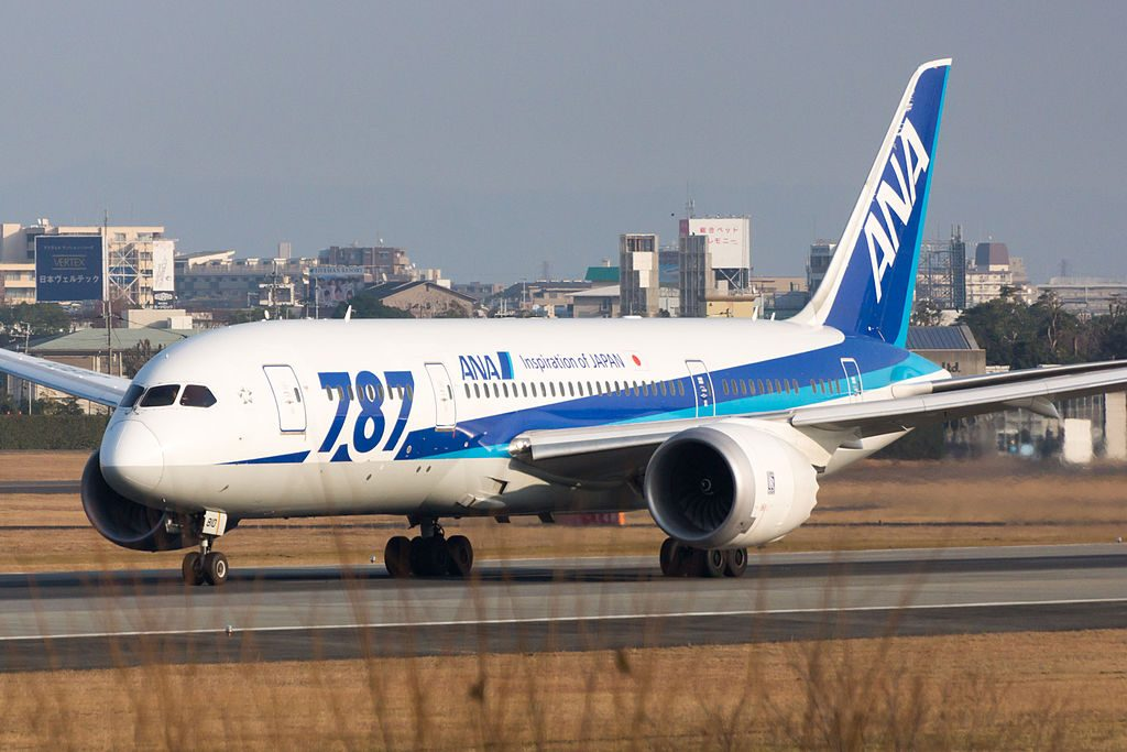 JA810A Boeing 787 8 Dreamliner of All Nippon Airways ANA at Osaka International Airport
