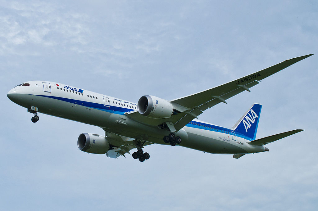JA830A Boeing 787 9 Dreamliner of All Nippon Airways ANA at Fukuoka Airport