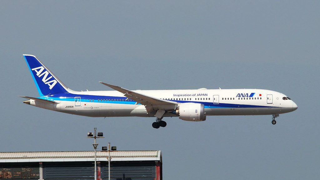 JA839A All Nippon Airways ANA Boeing 787 9 Dreamliner at Hongkong International Airport