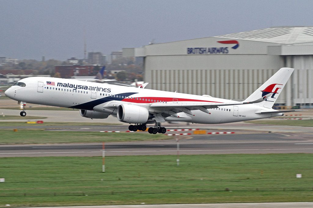 Malaysia Airlines 9M MAD Airbus A350 941 at London Heathrow Airport