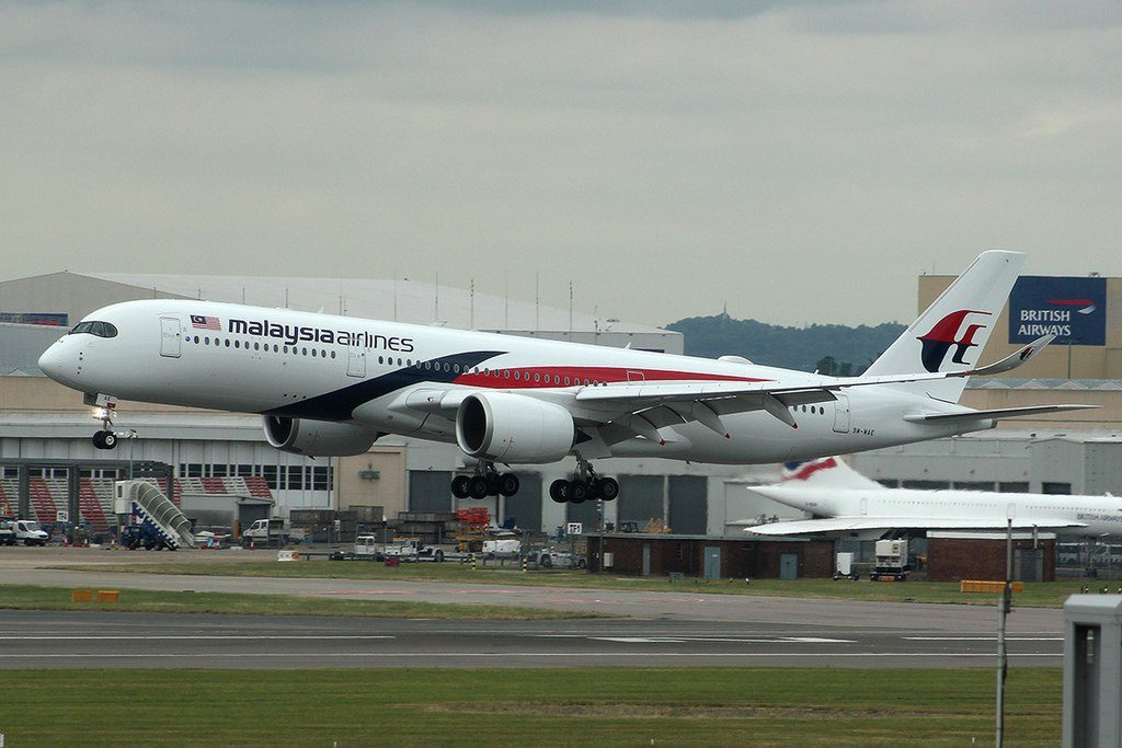 Malaysia Airlines 9M MAE Airbus A350 941 at London Heathrow Airport