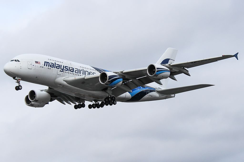 Malaysia Airlines 9M MNA Airbus A380 841 at London Heathrow Airport