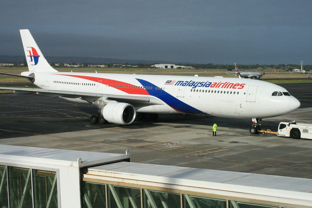 Malaysia Airlines 9M MTJ Airbus A330 323 at Adelaide Airport