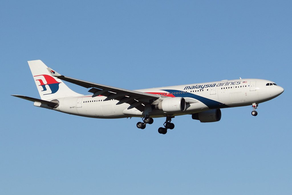 Malaysia Airlines 9M MTV Airbus A330 243 at Auckland Airport