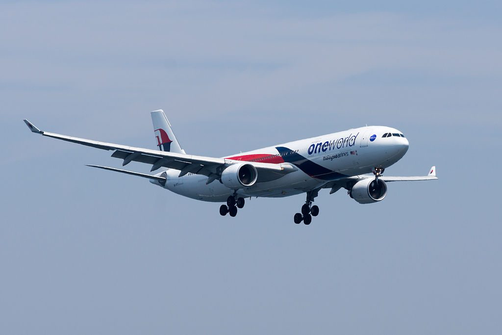 Malaysia Airlines Airbus A330 300 9M MTO Oneworld Livery at Kansai International Airport