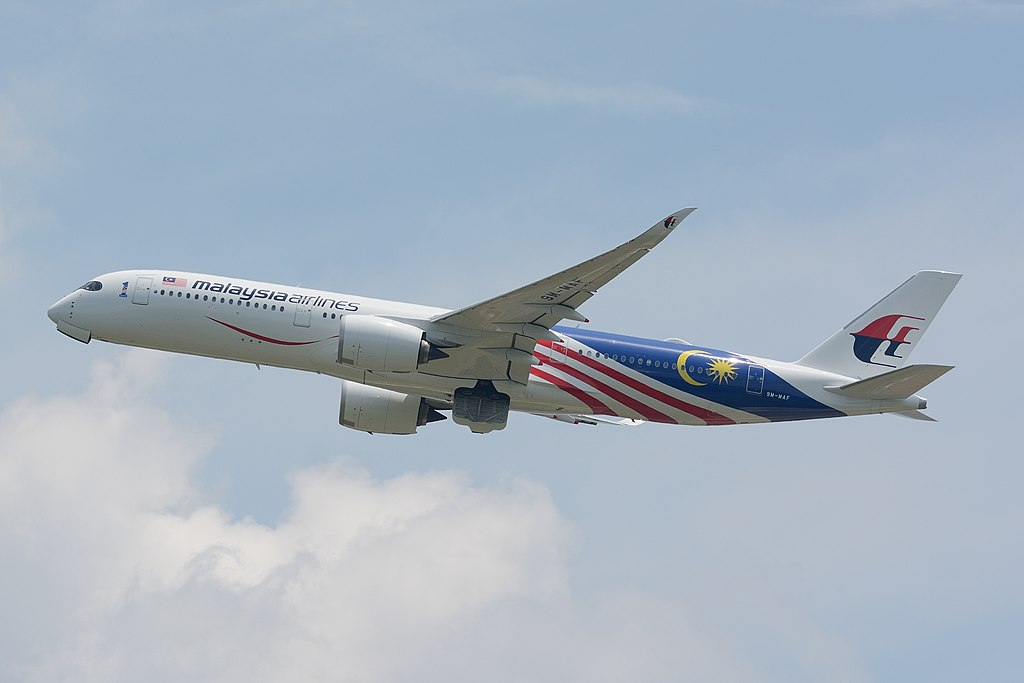 Malaysia Airlines Airbus A350 900 9M MAF Negaraku Livery at Narita International Airport