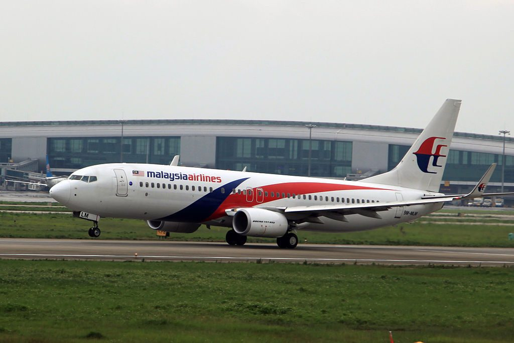Malaysia Airlines Boeing 737 8H6WL 9M MLM at Guangzhou Baiyun International Airport