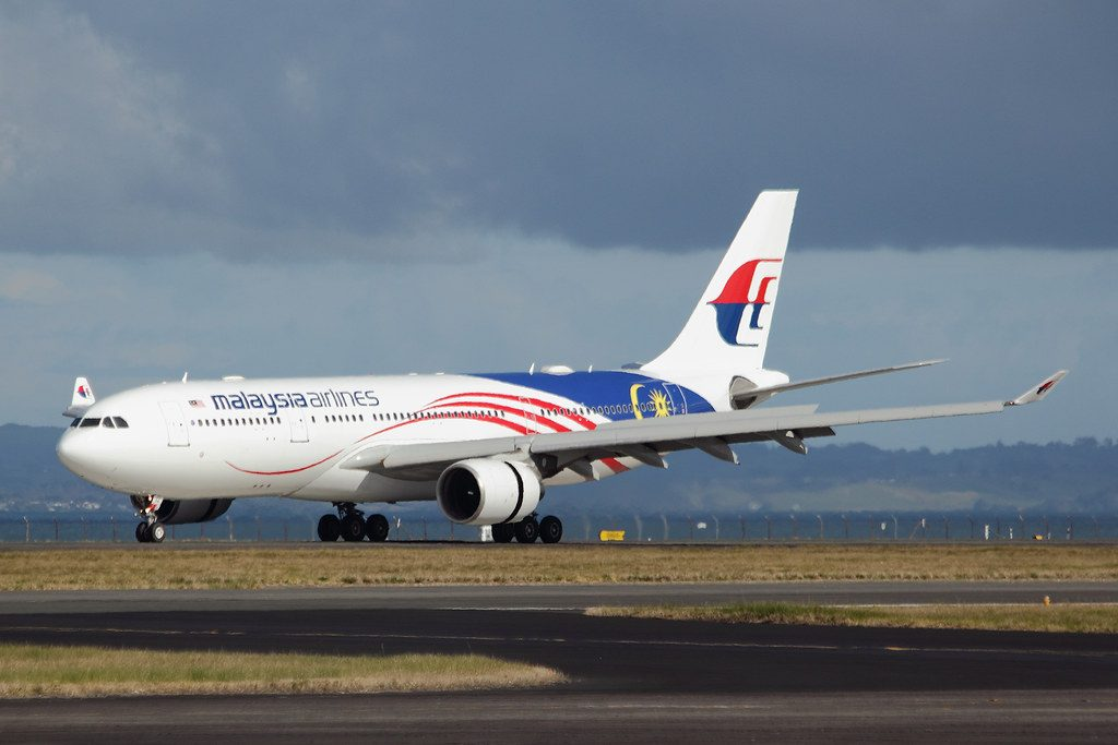 Malaysian Airlines 9M MTZ Airbus A330 223 at Auckland Airport
