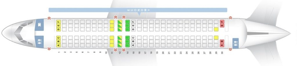 Seat Map and Seating Chart ANA Airbus A320 200 Version 1 Economy Class