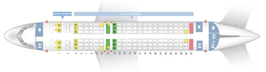 Seat Map and Seating Chart ANA Airbus A320neo
