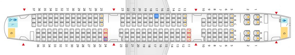 Seat Map and Seating Chart ANA Airbus A321 200 Neo