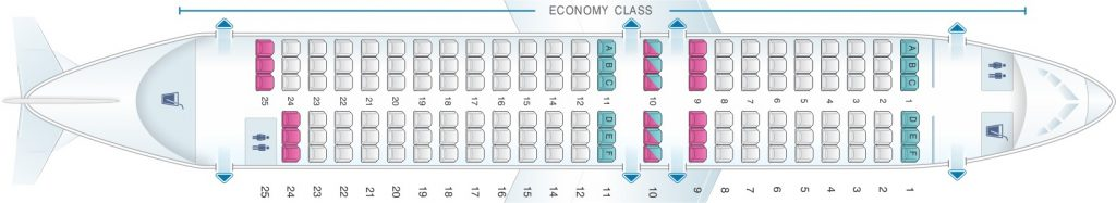 Seat Map and Seating Chart Airbus A319 100 SAS Scandinavian Airlines