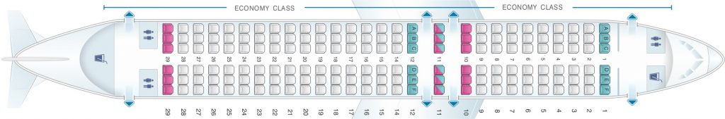 Seat Map and Seating Chart Airbus A320 200 Scandinavian Airlines SAS