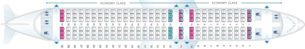 Seat Map and Seating Chart Airbus A320neo Scandinavian Airlines SAS