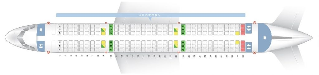 Seat Map and Seating Chart Airbus A321 100 Asiana Airlines