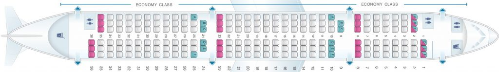 Seat Map and Seating Chart Airbus A321 200 Scandinavian Airlines SAS