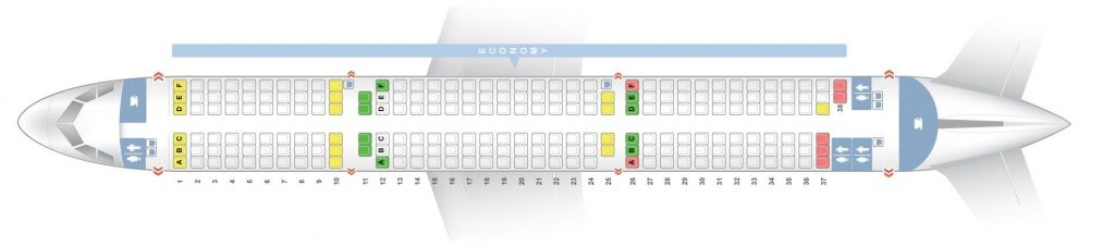 Seat Map and Seating Chart Airbus A321 200 Thomas Cook Airlines