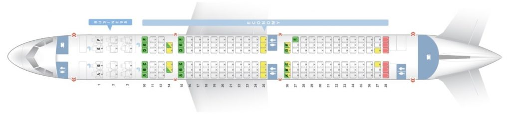 Seat Map and Seating Chart Airbus A321 200 V2 174 Seats Asiana Airlines