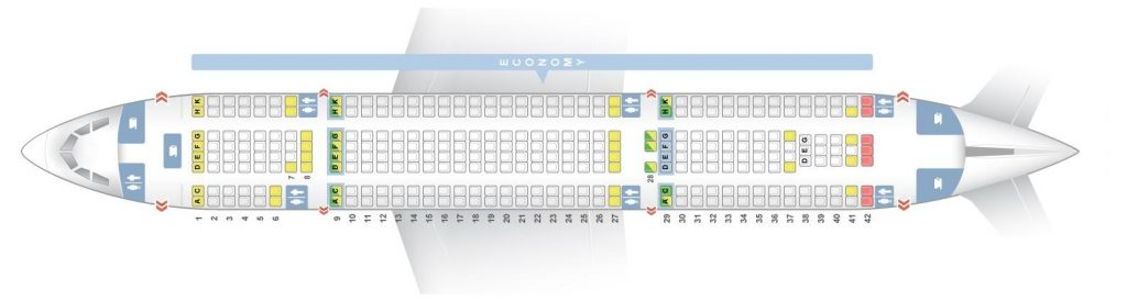 Seat Map and Seating Chart Airbus A330 200 V2 Thomas Cook Airlines