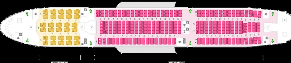 Seat Map and Seating Chart Airbus A330 300 298 Seats Asiana Airlines