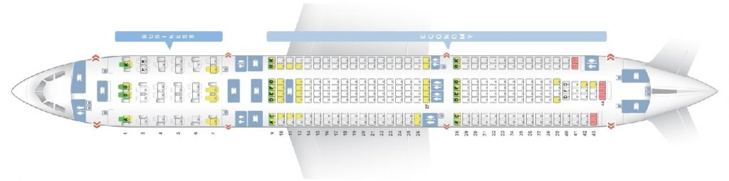 Seat Map and Seating Chart Airbus A330 300 Malaysia Airlines