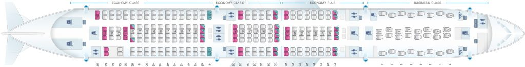 Seat Map and Seating Chart Airbus A330 300 Scandinavian Airlines SAS