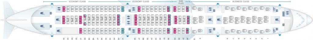 Seat Map and Seating Chart Airbus A340 300 Scandinavian Airlines SAS