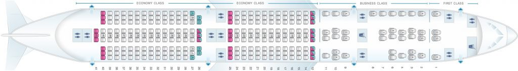 Seat Map and Seating Chart Airbus A350 900 Malaysia Airlines