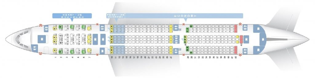 Seat Map and Seating Chart Airbus A350 900XWB Asiana Airlines