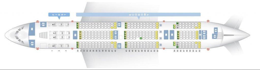 Seat Map and Seating Chart Asiana Airlines Airbus A380 800 Lower Deck