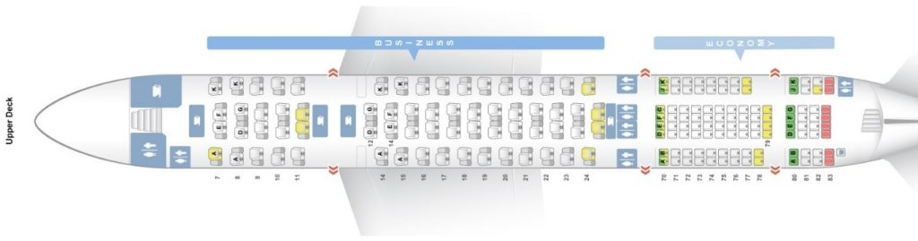 Seat Map and Seating Chart Asiana Airlines Airbus A380 800 Upper Deck