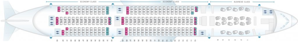 Seat Map and Seating Chart Asiana Airlines Boeing 777 200ER 300 Seats