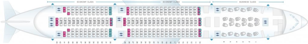 Seat Map and Seating Chart Asiana Airlines Boeing 777 200ER 301 Seats