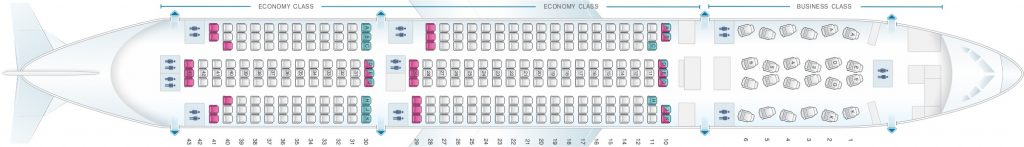 Seat Map and Seating Chart Asiana Airlines Boeing 777 200ER 302 Seats