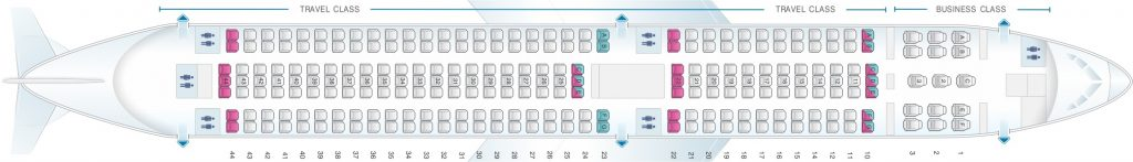 Seat Map and Seating Chart Boeing 767 300 Asiana Airlines 250 Seats Layout