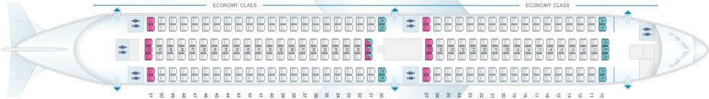 Seat Map and Seating Chart Boeing 767 300 Asiana Airlines 270 Seats Layout