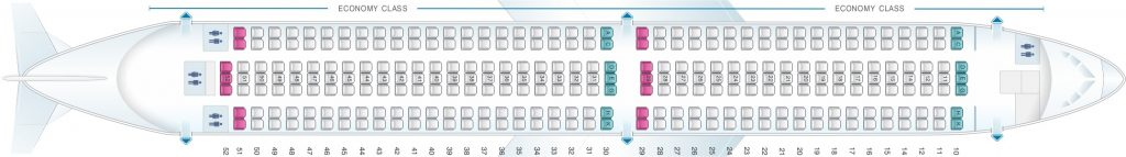Seat Map and Seating Chart Boeing 767 300 Asiana Airlines 290 Seats Layout