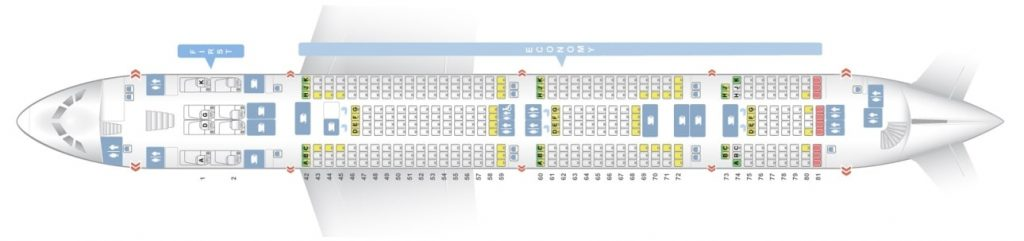 Seat Map and Seating Chart Lower Deck Airbus A380 800 Malaysia Airlines